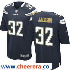 569e2055f22 Men s Los Angeles Chargers  32 Justin Jackson Navy Blue Team Color Stitched  NFL Nike Game Jersey