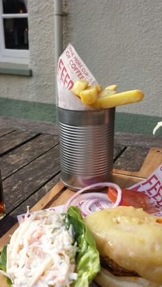 Why Not Save Your Old Cans And Use In Foodservice Nice Rustic Chips Can