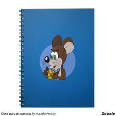 Cute mouse cartoon notebook