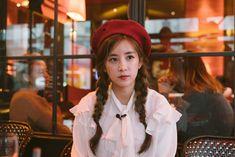 Park Chorong ♡ Kpop Girl Groups, Kpop Girls, Panda Eyes, Pink Panda, Chubby Cheeks, Fans Cafe, Cube Entertainment, Ulzzang Fashion, Kpop Fanart