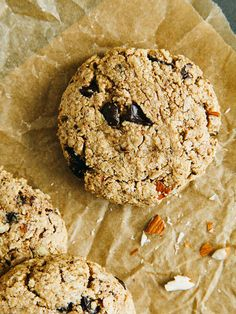 Double chocolate almond butter trail cookies by Ashlae   oh, ladycakes