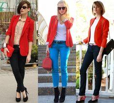 Blazer vermelho,veja como combinar e ficar incrivel