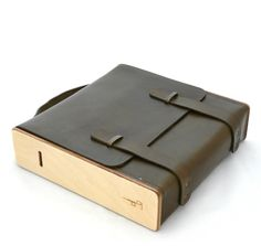 Le cartable sac bois cuir damien beal