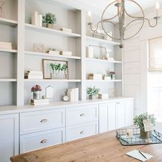 Nice Home Office Built Ins 21 Dining Room Built In Cabinets And Storage Design Home Office Design, Home Office Decor, Home Design, Dining Room Office, Office Desk, Dining Rooms, Design Ideas, Home Office Shelves, Office Inspo