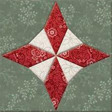 Beautiful star quilt block