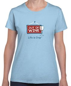 Love this Light Blue 'Out of Wine' Glass Tee - Women on #zulily! #zulilyfinds
