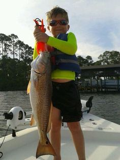 This one pulled him out of the boat, literally! #sowal — at Choctawhatchee Bay.