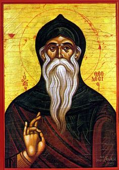 Image of St. Theodosius the Cenobiarch feast day 11th January pray for us.