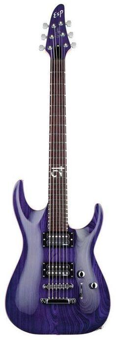 ESP Rob Caggiano Signature Electric Guitar | See Thru Purple Finish www.guitaristica.org #electricguitar #guitars #guitaristica