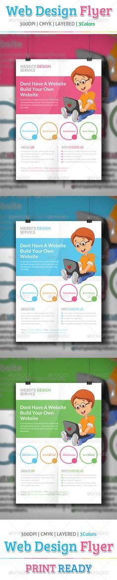 Website Design Flyer Template  #GraphicRiver         Website Design Flyer Template  	 Images links are included in the help file  	 Many thanks for purchasing my item from the envato marketplace.  	 Please don't forgot to rate.  	 //————————-—//  	 All designs in to design  	 //————————-—//  	 Website Design Flyer Template Fully layered PSD 300 Dpi, CMYK Completely editable, print ready Text/Font or Color can be altered as needed All Image are in vector format, so can customise easily…