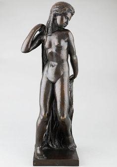 JOSEPH Bernard, Nu au drapé - Sculpture 20e en bronze