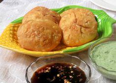 Maayeka - Authentic Indian Vegetarian Recipes: Corn Kachori / Spicy Corn Puffs