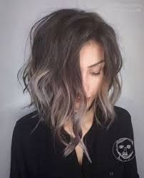 Image result for dark hair with subtle gray highlights
