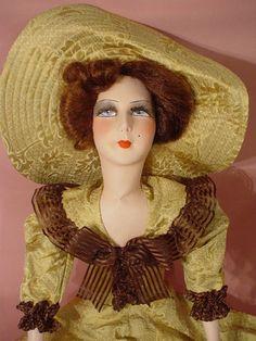 Poupee DE Salon Ancienne Vintage BED Doll Boudoir 1925 30 Mode Couture | eBay