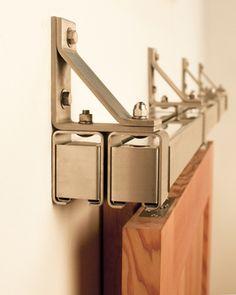 Stainless Box Rail Bypass Barn Door Hardware (400 lb)