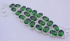free shipping F-288 Stunning Peridot .925 Silver Handmade Jewelry Bracelet 65 Gr. by SILVERHUT on Etsy