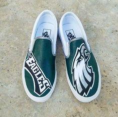 8da9d51b30 Philadelphia Eagles Custom Vans. Vans Shoes Women ...