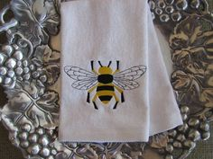 Baby Bathroom Bumble Bee Yellow And White Shower Curtain