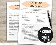 TEACHER Resume Template  Resume Cover Letter by BusinessBranding, $15.00