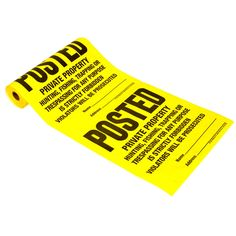 Hy-Ko TSR-100 Posted Sign Roll 100 Count