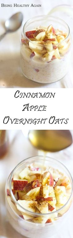 cinnamon apple overnight oats with honey