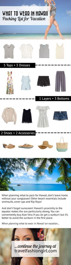 We've got insider tips on what to pack for Hawaii! Here's what you should bring for a Hawaiian vacation. | travelfashiongirl.com