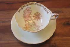 Paragon Partriotic Series There will be England Tea Cup Teacup Saucer WWII Map