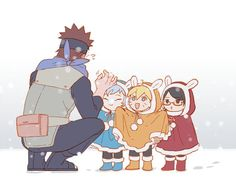 kawaii, naruto, and boruto image Naruto Uzumaki Shippuden, Naruto Kakashi, Boruto And Sarada, Naruto Gaiden, Naruto Teams, Naruto Sasuke Sakura, Naruto Comic, Naruto Cute, Inojin