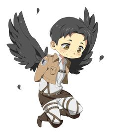 Marco as an angel from the anime Attack on Titan
