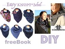 Easy KNOPF*Schal *** freE-Book für Loop Schal mit Knopf in 3 Größen für die ganze Familie Nähen Ohne Schnitt mit VIDEO-Nähanleitung - DIY Design von firstloungeberlin