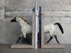 Polka Dot Sculpture Horse Bookend. 125 dollars, via Etsy.