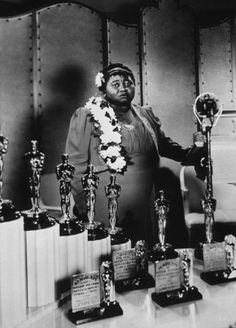 "Miss Hattie McDaniels Here she is receiving her academy award for supporting actress in ""Gone With The Wind"""