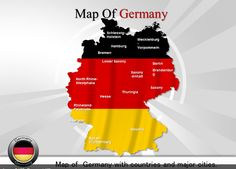 Map of germany populated cities germany powerpoint maps powerpoint map of germany toneelgroepblik Choice Image