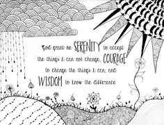 Serenity Prayer Coloring Page By EmilyJArtist On Etsy