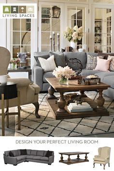 An oversized sectional sofa, paired with the right cocktail table, accent chairs, and accessories, creates the perfect setting for a warm and inviting living room. Find the best furniture and decor for your home at Living Spaces.