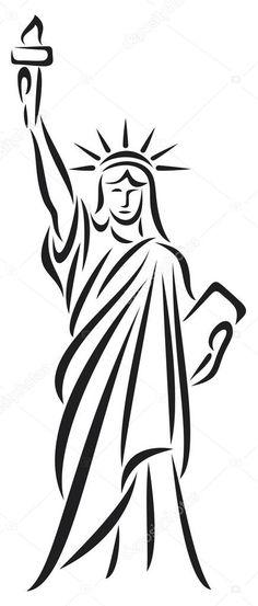 Resultado de imagen de statue de la liberté vectoriel