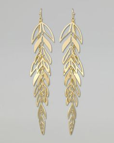 Zinnia Leaf Drop Earrings by Kendra Scott at Neiman Marcus.