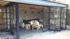 Even though ancient in notion, the particular pergola has become enduring somewhat of a modern-day Backyard Patio Designs, Pergola Designs, Pavillion, Outdoor Kitchen Bars, Garden Office, Patio Roof, Steel Doors, Door Design, Animal Shelter