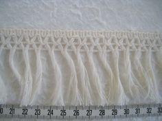 3 to 6 yards 100% Cotton Fringe Trim Tassel Trim 2 1/4 in - Natural Cotton Color