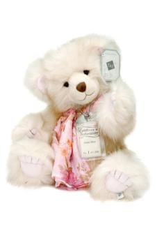 Grace is just one of the beautifully crafted Silver Tag bears by Suki that we have instore and online.  A limited collection teddy bear, she is made from a very feminine, long pile ivory luxe with soft paw pads and embossed fingers and toes. Not to mention the beautiful chiffon scarf she adorns! A wonderful collectors item...  http://bit.ly/1oEqXoj