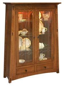 Amish Mccoy Mission Curio Cabinet