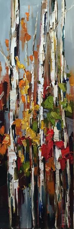 Out Through the Side Door by Kimberly Kiel 60 x 20 Oil on Canvas
