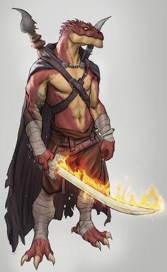 [Art] Rhogar | Dragonborn Monk : DnD