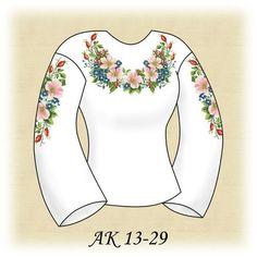 Заготовка к вышиванке женской Розовый шиповник АК 13-29 Д