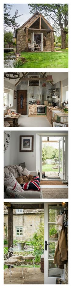 Situated between a millstream and the gurgling River Churn, this cottage in Cirencester, England can be accessed solely by bridge, ensuring the utmost privacy during your stay.