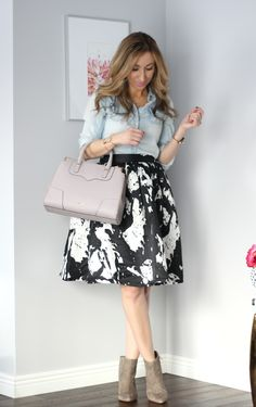 Lilly Style: black and white skirt