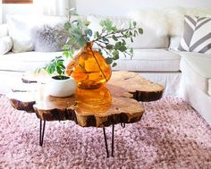 As gorgeous as live edge tables from the store can be, they are often shockingly expensive. If you don't have a lot of cash to splash, then this Rustic Live Edge Wood DIY Table is the perfect solution.