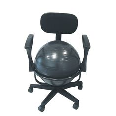 Fitness Ball Chair With Arms