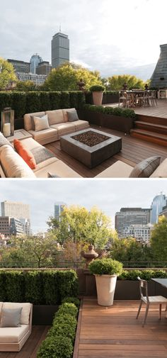 Best Rooftop Garden Ideas & Designs For 2019 Boston rooftop garden with deck Rooftop Terrace Design, Small Terrace, Rooftop Patio, Terrace Garden Design, Garden Soil, Garden Care, Garden Beds, Vegetable Garden, Gardening