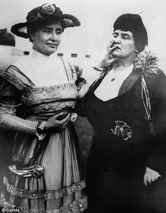 In 1916, the year after Helen's teacher and companion Anne Sullivan (right) fell ill and after this picture was taken, Helen fell in love with Peter Fagan